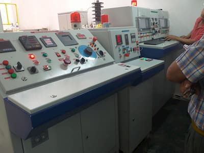 laboratorio de prueba de transformadores electricos