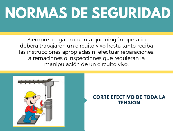 5 normas de seguridad en alta tension