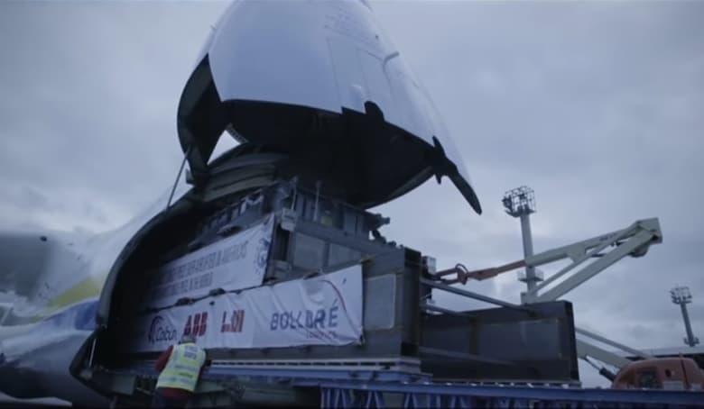 transformador mas pesado transportado por aire